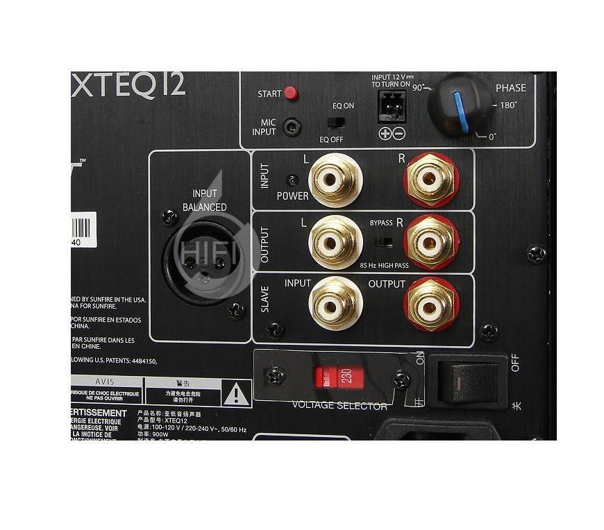 骄阳 XTEQ 12,Sunfire XTEQ 12,骄阳有源低音炮