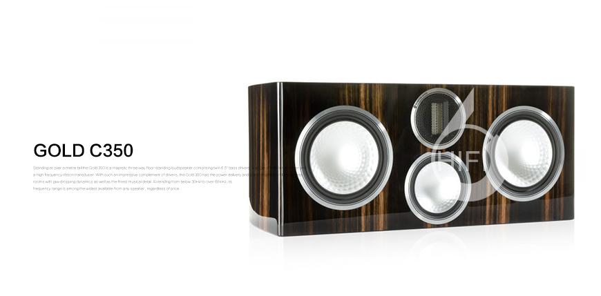 猛牌Gold GX C350,Monitor Audio Gold GX C350,猛牌金系列中置音箱