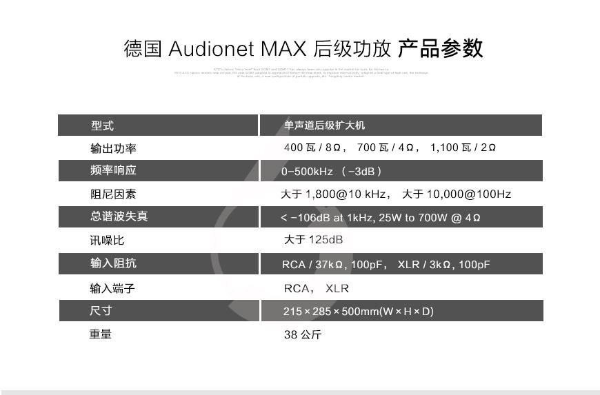 Audionet PER G2,Audionet旗舰前级,Audionet旗舰单声道后级
