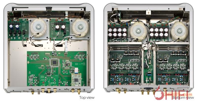电源系统及控制系统被安置在机箱底部,解码等电路则安排在机箱的上部