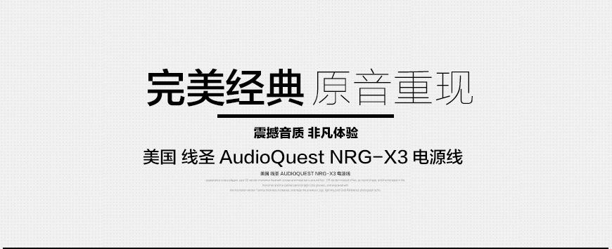 美国线圣,线圣AudioQuest,AudioQuest NRG-X,电源线,音响电源线