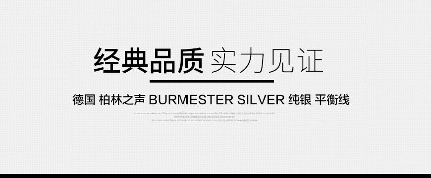 柏林之声Burmester SILVER,柏林之声Burmester信号线