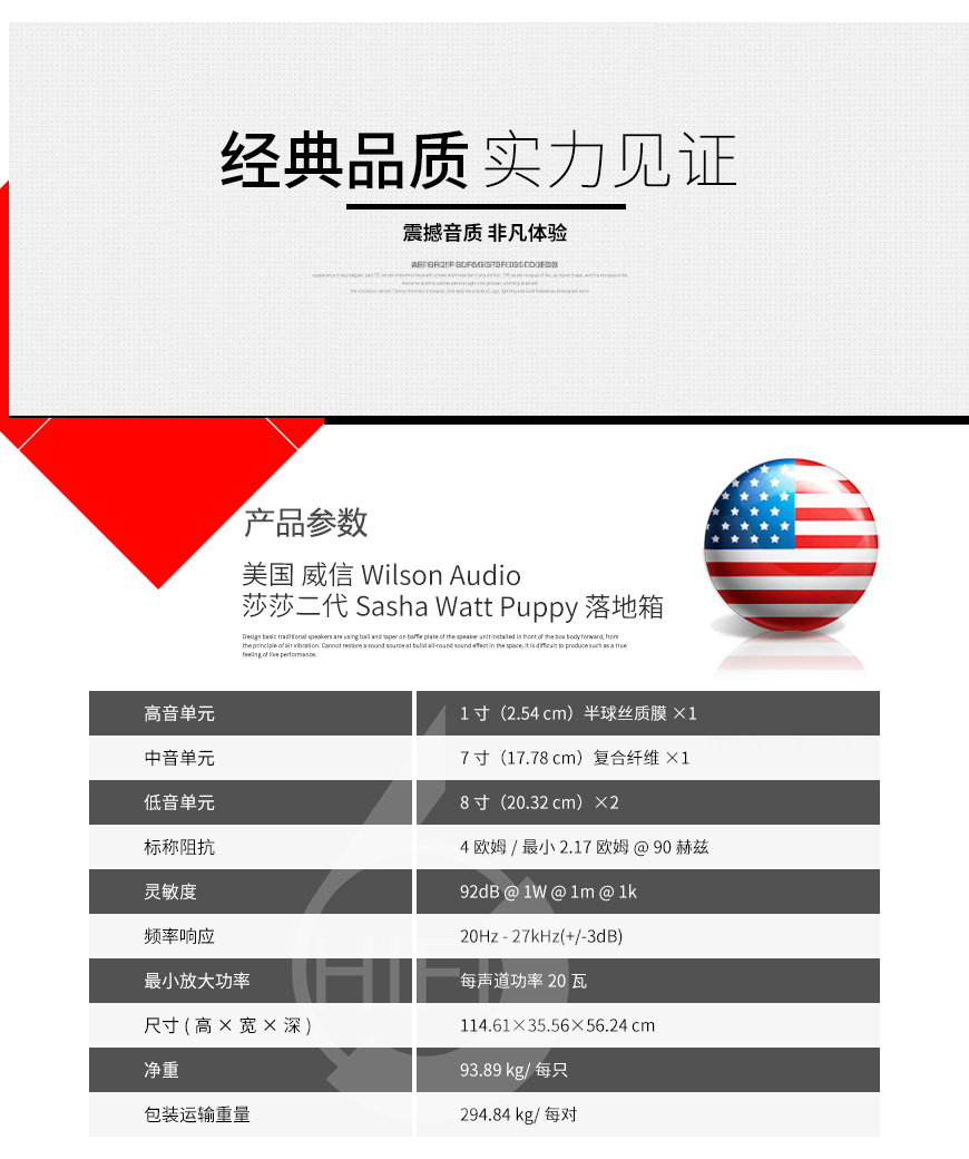 威信莎莎二代,Wilson Audio Sasha Watt Puppy,威信落地箱